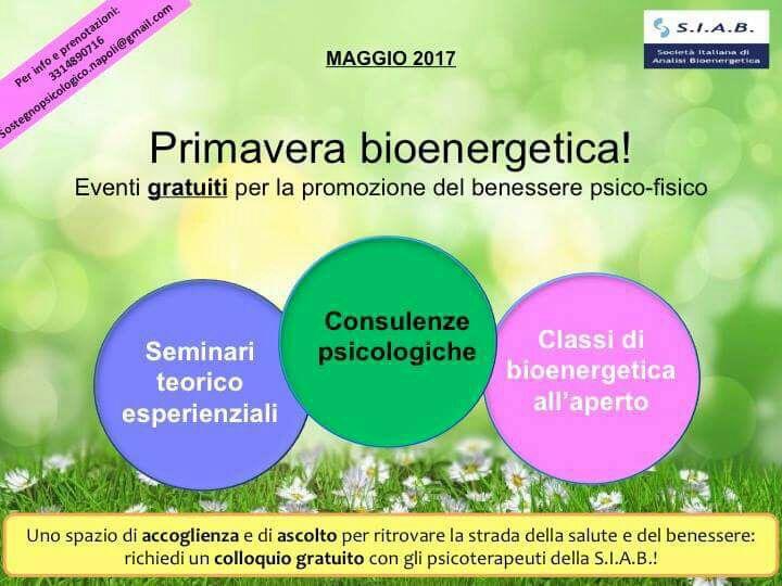 Domenica 21 appuntamento con la bioenergetica